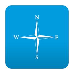 Etiqueta tipo app azul simbolo rosa de los vientos