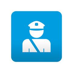 Etiqueta tipo app azul simbolo policia