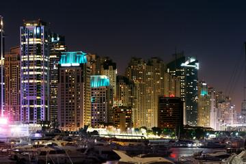 Dubai Marina with JBR, Jumeirah Beach Residences, UAE