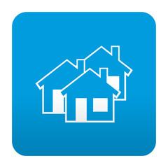 Etiqueta tipo app azul simbolo inmobiliaria
