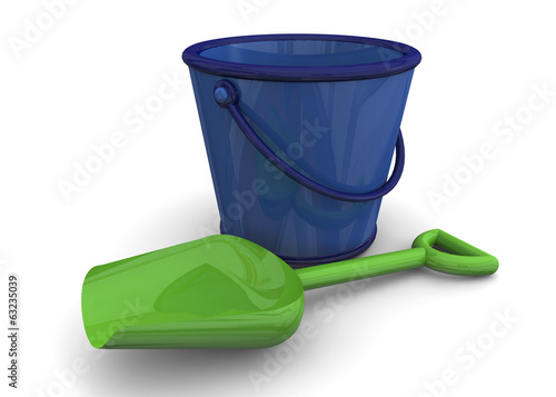 BUCKET AND SHOVEL -3D