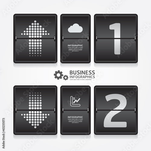 business travel infographic airport timetable design style / can