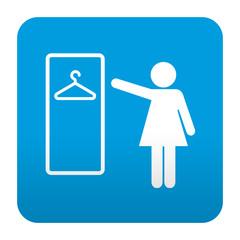 Etiqueta tipo app azul simbolo vestuario femenino