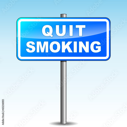 Vector quit smoking signpost