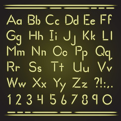 Neon alphabet Yellow