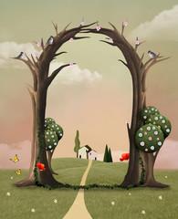 Spring trellis