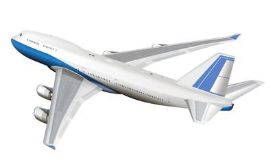 Jumbo Jet, Passagierflugzeug, freigestellt