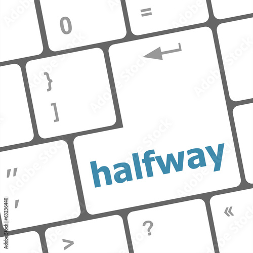 halfway word on computer pc keyboard key