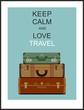 Vintage travel luggage background