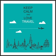 Travel and tourism background .