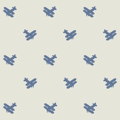 Seamless Background of Vintage Airplanes