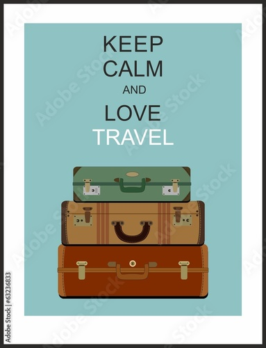 Vintage travel luggage background