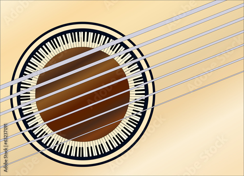 Guitar Piano Sound-hole