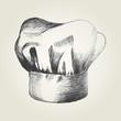 Sketch illustration of a chef hat - 63238045