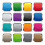 Fototapety Metallic square buttons