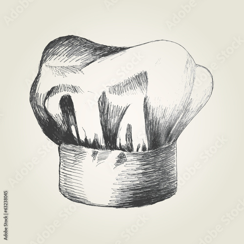 Sketch illustration of a chef hat