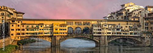 Florence Ponte Vecchio sunset view