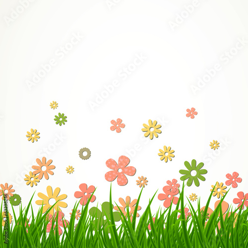 Vector Illustration of a Flower Background