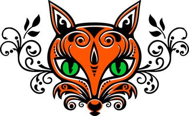 Fuchs Vektor dreifarbig