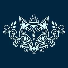 Fuchs Vektor negativ einfarbig