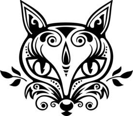 Fuchs Vektor einfarbig