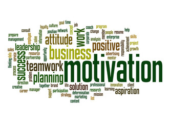 Motivation word cloud
