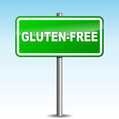 Vector gluten-free signpost