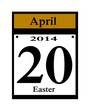 2014 easter calendar date icon