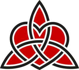 Keltischer Knoten Triquetra Herz Tattoo Style