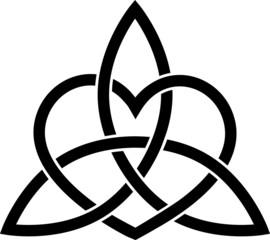 Triquetra Herz Heidentum, Kelten Dreifach Knoten