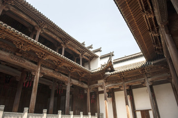 Roof Wood Carvings in Famous Buddist Temple
