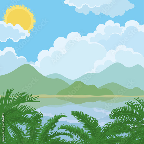 Tropical sea summer landscape
