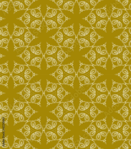 Yellow abstract seamless pattern