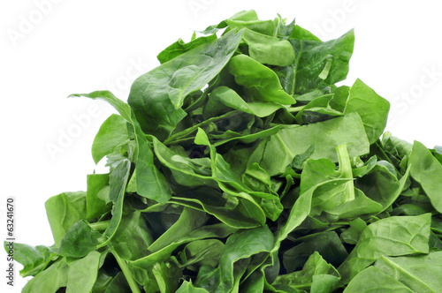 chopped raw chard leaves