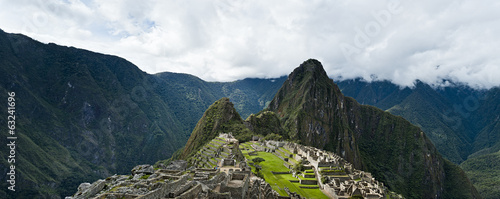 Machu Picchu beautiful panorama overview