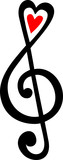 Notenschlüssel Violinschlüssel Note Herz Musik Klassik