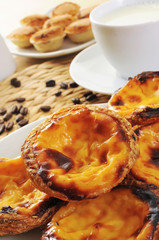 pasteis de nata and pasteis de feijao, typical Portuguese pastri