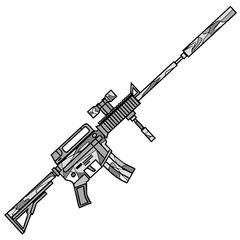 Rifle, vector illustration