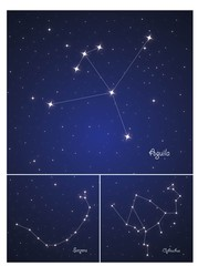 Constellations Serpens,Ophiuchus and Aquila