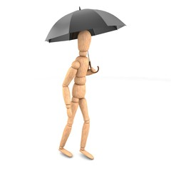 woodman with umbrella