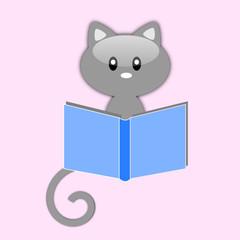Gatto con libro