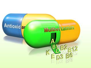 Multivitamin - Präparate, Multi-Vitamin, Nahrungsergänzung