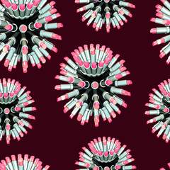 seamless lipstick pattern texture on deep red