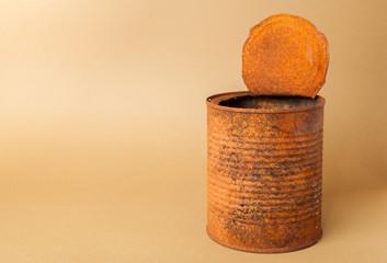 Old rusty tin
