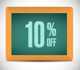 10 percent discount message illustration design