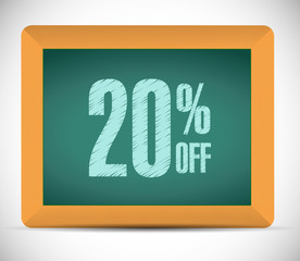 20 percent discount message illustration