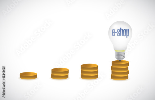 e-shop gold graph concept illustration design