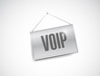 voip banner sign illustration design