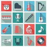 Fototapety Music instruments - flat design