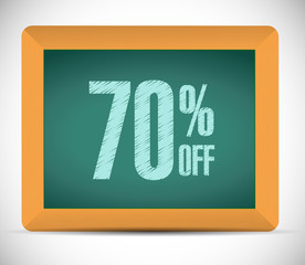 70 percent discount message illustration